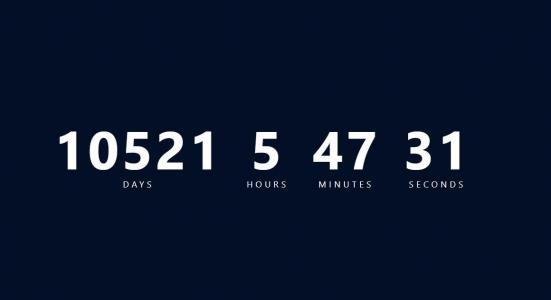 JS时间代码和CSS选择器制作创意大气数字时钟样式效果