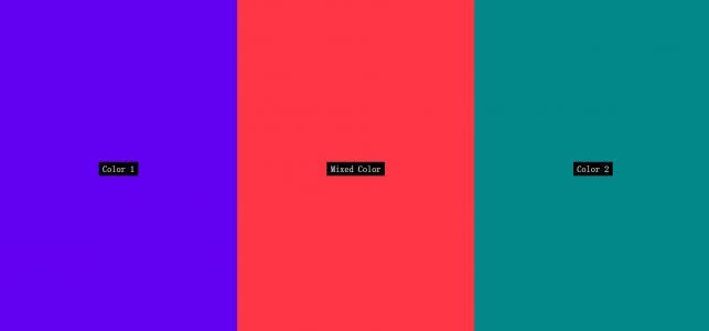 网页布局代码HTML和CSS选择器布局设计全屏垂直色卡背景颜色效果