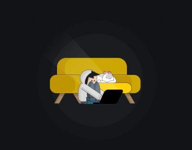 卡通动画素材免费下载纯CSS3设计创意卡通人物上网动画场景
