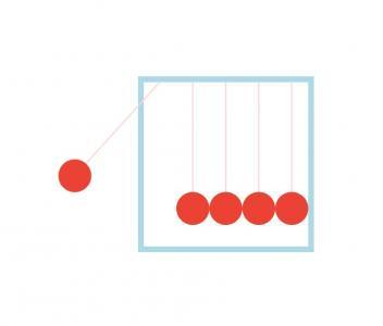 HTML5动画设计网站代码纯CSS3属性制作简单球体碰撞动画场景