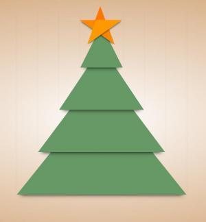 网站卡通图像免费下载纯CSS3网页代码绘制卡通圣诞树图像样式效果