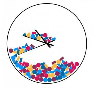 免费素材网站大全jQuery时间代码设计创意简笔画圆形时钟样式效果