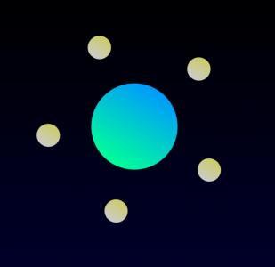 HTML5网站大全JS代码和CSS动画属性模拟月球围绕地球旋转动画场景