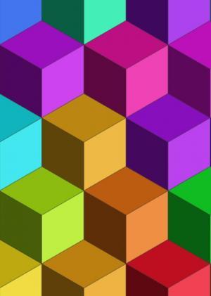 特效网页设计代码canvas画布绘制3D效果立方体单元格背景图像