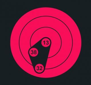 素材网站网页时钟UI设计CSS3美化设计大气红色创意圆形数字时钟
