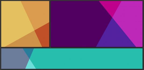 HTML5网站布局代码与JS特效排版布局制作彩色几何图形背景样式效果
