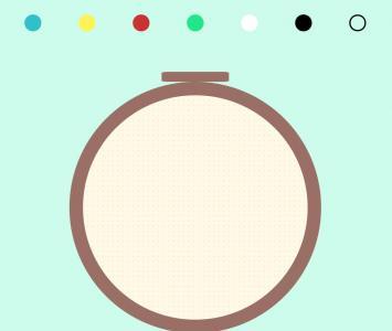 卡片平面图设计大全H5标签代码CSS3样式表绘制圆形点背景的卡通图像