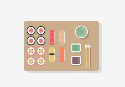 图片网站制作效果H5网页设计代码绘制早餐卡通图片样式效果