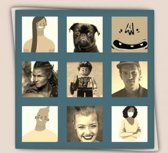 图片设计素材网页大全jQuery代码绘制九宫格图片数滑过图片圆形切换