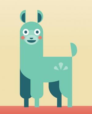 素材卡通动画绘制代码HTML标签样式表CSS动画属性绘制卡通鹿动物图像