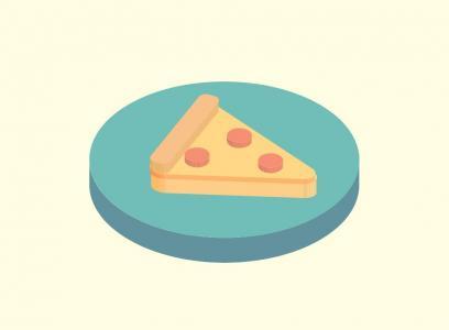 图形动画素材3D效果特效代码JS和CSS3制作3D卡通披萨滑动展示代码