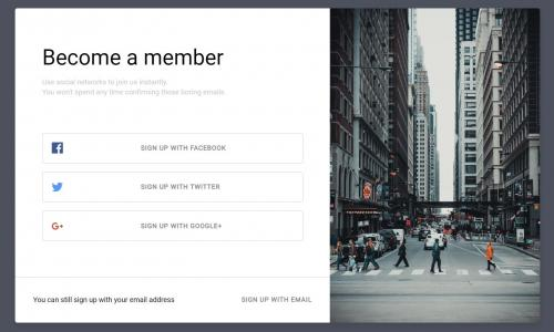 网页登录表单UI设计效果CSS样式表美化设计第三方账户登录表单界面