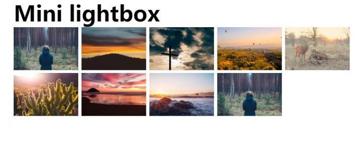 幻灯片lightbox模板设计网站制作代码JS实现鼠标点击图片展示效果