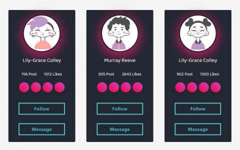 UI设计素材网站大全CSS网页特效代码设计鼠标滑过高亮效果的卡片