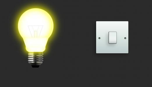 创意网站素材制作代码JS实现鼠标点击开关按钮电灯泡发光效果