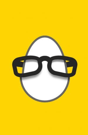 卡通简笔画图像UI设计与制作CSS3代码绘制创意鸡蛋带墨镜图像