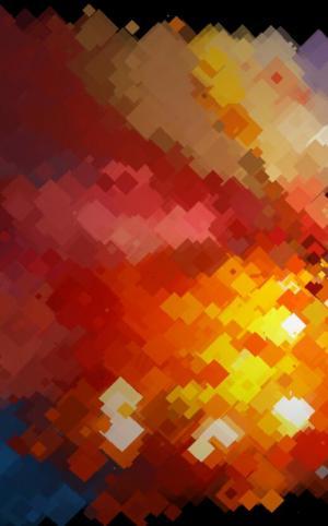 炫酷动态图案素材设计代码canvas画布绘制高斯模糊彩色像素背景图案