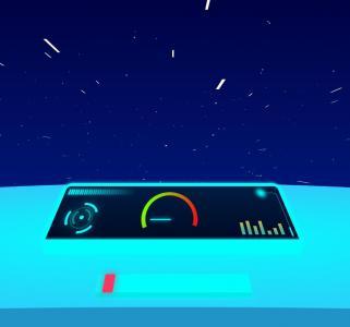 创意卡通动画设计JS和CSS3特效设计太空中驾驶舱飞船飞行视觉场景