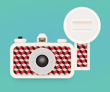 创意平面图像设计网站制作代码H5标签样式表设计简单卡通相机