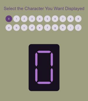 网站设计代码react.js实现鼠标点击圆形数字按钮LED荧幕显示效果