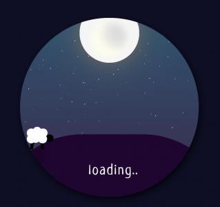 卡通动画素材免费下载JavaScript和HTML5设计圆形夜间卡通动画