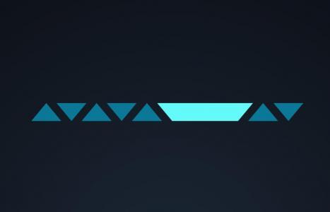 几何图形设计与制作JS特效网页设计三角形图形鼠标点击滑动代码