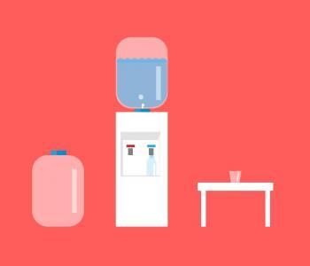 动画卡通素材设计大全CSS3网站选择器代码绘制卡通饮水机图像效果