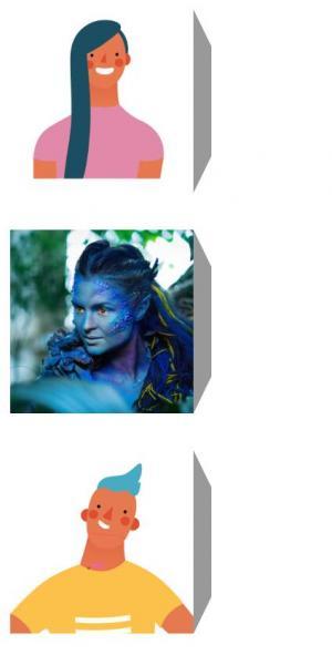 HTML布局代码CSS3排版设计带3D视觉的卡通图像鼠标滑过旋转效果