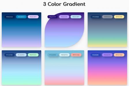 网页调色板UI素材设计与下载H5和CSS3设计鼠标滑过创意渐变调色板色卡