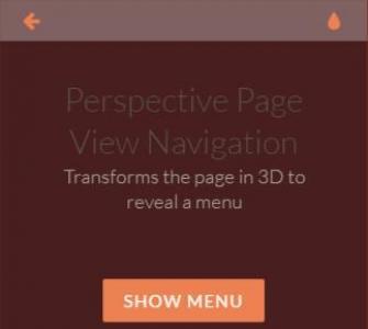 个性HTML5网站设计布局点击按钮可自定义页面方向透视切换页效果