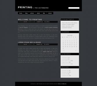 个人网站博客建设HTML5与CSS3设计黑色个人博客模板网站