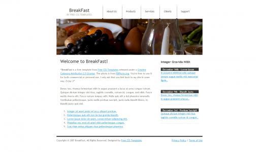 中小企业展示型网站设计HTML布局banner图网站模板免费下载