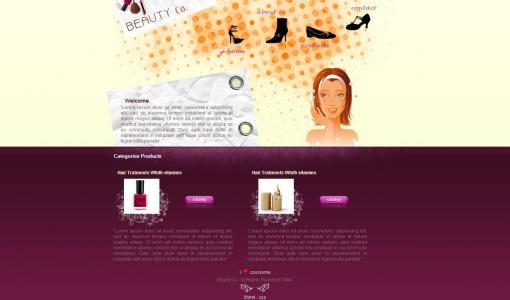 素材网大气清晰国外时尚商品展示网站模板免费下载