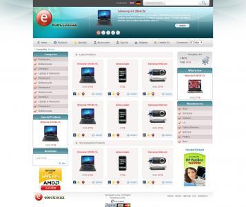 国外数码产品展示型网站设计与制作素材网商城网站模板下载