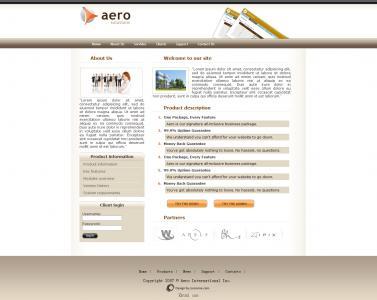 素材网设计带用户表单登录功能的清晰简单大气的英文模板网站