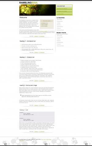 个人技术博客网站建设HTML布局制作代码模板网站静态页面