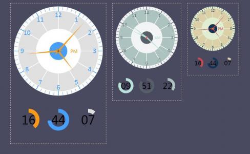 Clock.js-HTML5模拟时钟jQuery插件网站时钟插件代码下载