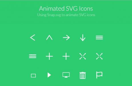 网页icon图标设计大全鼠标悬停点击SVG动画切换效果