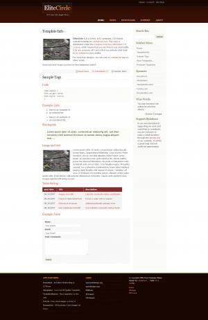 网站建设公司设计大气简约通屏个人博客网站网页模板