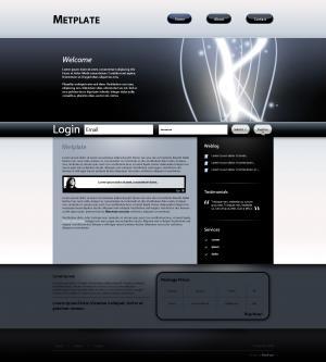 素材网站设计制作大气宽屏服务型公司模板网站下载