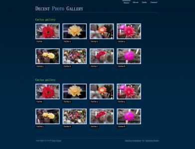 HTML与CSS3设计黑色风格花卉产品宣传展示型网站模板