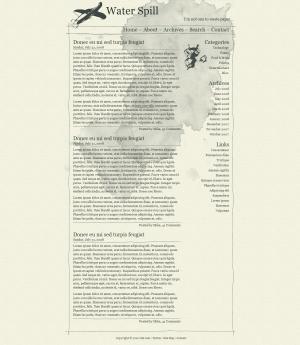 带有创意经典报纸风格网站模板网站HTML静态页面设计大全