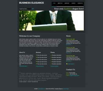 成都SEO优化公司设计黑色风格企业机构宣传网站模板企业模板设计制作大全
