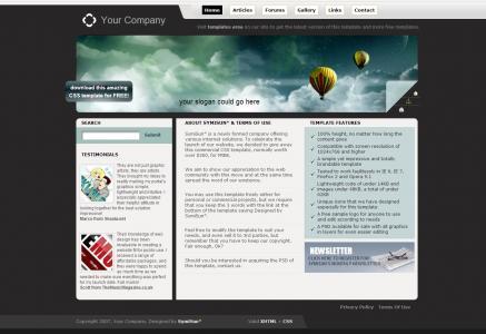 企业公司网站模板设计大全HTML制作黑色背景经典型网站模板