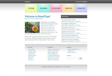 个人博客网站模板静态网页免费下载