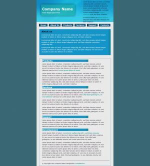 清晰简洁国外产品展示型网站