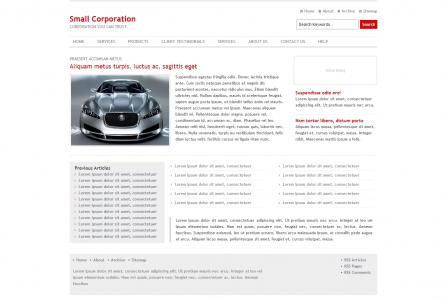 传统企业网站模板免费下载