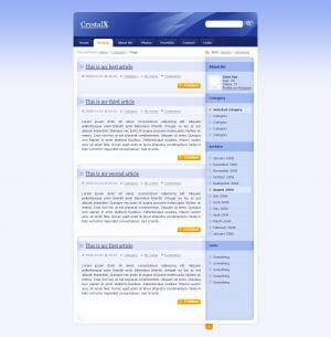 简单的个人博客网站静态网页免费下载