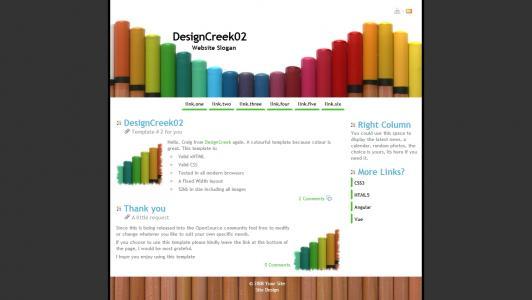 欧美风格网站模板企业网站静态页面