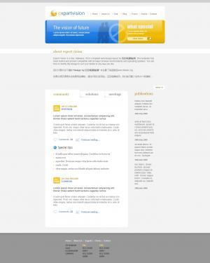 国外网页模板静态模板免费下载